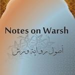Notes on Warsh – Ijaaz Mukaddam