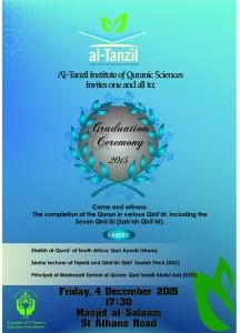 Al-Tanzil Graduation Poster 2015